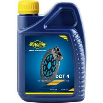 Putoline DOT 4 High Performance Synthetic Motorcycle Motorbike Brake Fluid - 1L